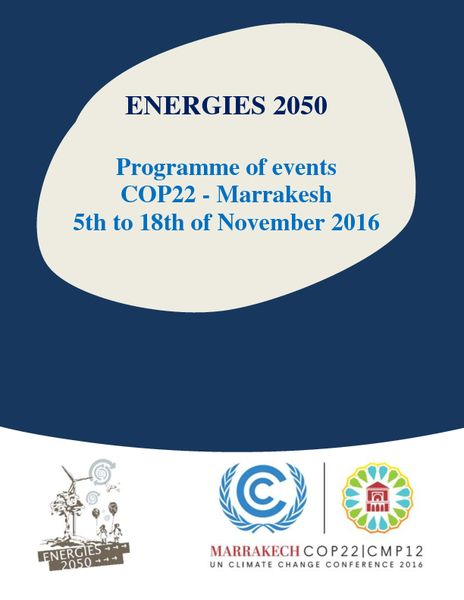 Bulletins energies 2050 cop22 programme of events english version stopboris Images