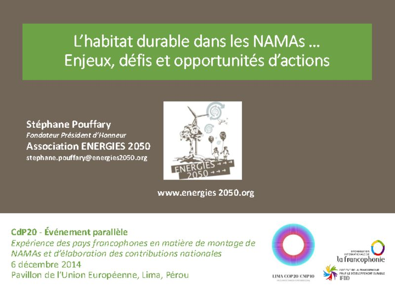 thumbnail of 2014-12-06-Side-event-NAMA-IFDD_Présentation-3_Stephane-POUFFARY_NAMA-urbain_ENERGIES-2050