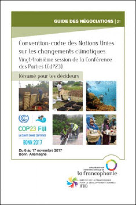 Résumé pour les décideurs – CdP23, Bonn, Novembre 2017