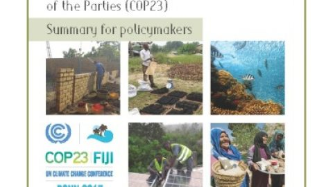 Summary for policymakers – COP23, Bonn, November 2017