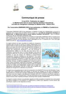 thumbnail of Rapport_Med-et-Climat_2018_COMMUNIQUE_PRESSE