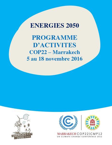 ENERGIES 2050 – Programme FR