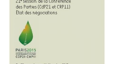 Guide to the negotiations – COP21, Paris, November 2015