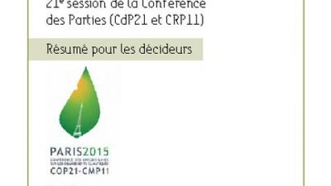 Summary for Policymakers – COP21, Paris, November 2015