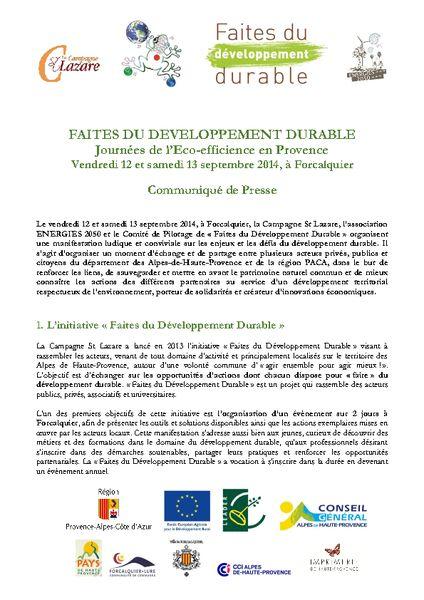 thumbnail of Communiqué-de-presse-Faites-du-Développement-Durable_12-13-Septembre-2014
